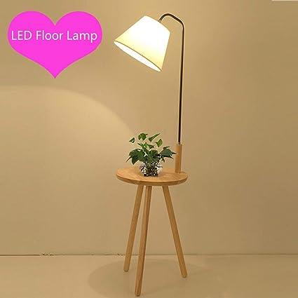 Floor Stand Lights - FloorLDD Lámpara de pie de Madera con ...