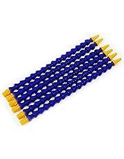 HSEAMALL Plastic flexibele water olie koelmiddel buis slang 6 stuks blauw 30mm