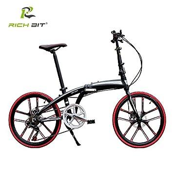 richbit® rt-451 Mini bicicleta plegable para mujer y hombre marco de aluminio bicicleta