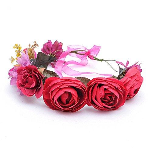 Bridal Flower Crown Wedding Headband: S2 (SRR)