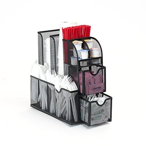 Mind Reader 'Organizer' Condiment Caddy Organizer, Black Metal Mesh by Mind Reader (Image #3)