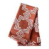 Brown Cloth Napkins, Set of 6, 20x20 inch, Trellis Pattern, 100% Cotton Dinner Napkins