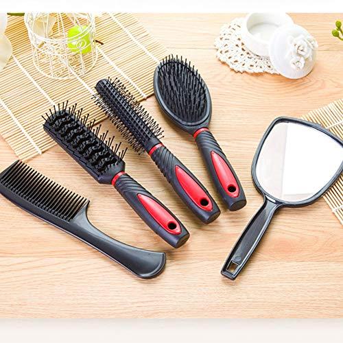 GYYlucky Mirror Comb 5 Piece Set Anti-static Home Hair Comb 5 Piece Set Comb