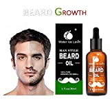 Beard Grow | Facial Hair Supplement | #1 Mens Hair Growth Vitamins | For Thicker and Fuller Beard (Gold)