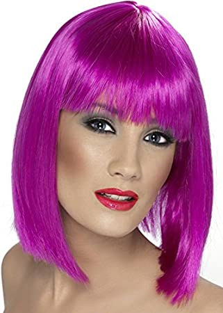 Womens La peluca de Glam del estilo del gato de Chesire Glam