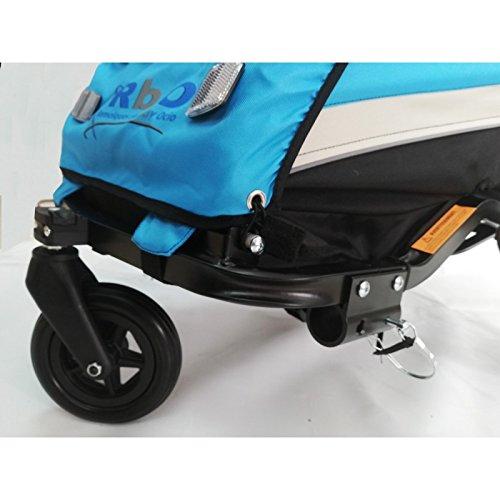 RBO Remolque de Bicicleta para niños One, Carrito de Bicicleta, monoplaza, Plegado rapido, antivuelvo, Manillar Regulable, Rueda 360, Frenos Independientes.