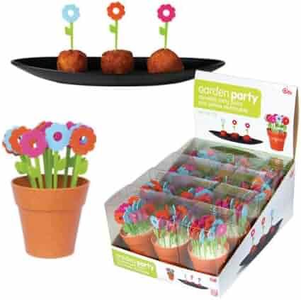 Garden Party- Reusable Flower Party Picks