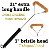 Do-Be Products Brass Grill Brush-Extra Long 21' For Best Reach and Leverage