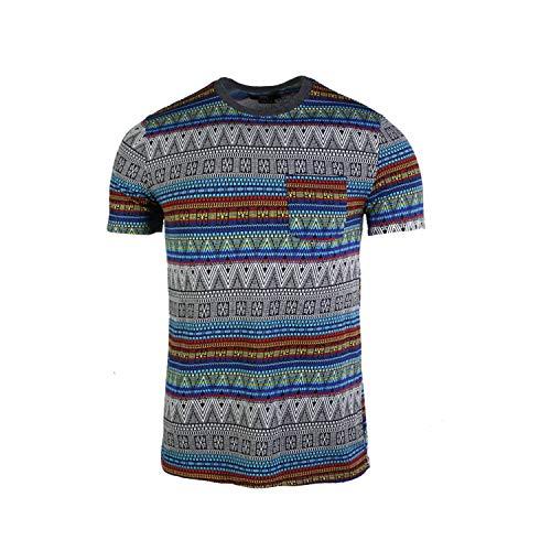 Colored Multi Beautiful (Beautiful Giant Men's Basic Graphic Pocket T-Shirt (Multicolored, L))