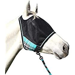 UViator Protective Fly Mask & Halter - Kensington's Newest UV Solar Screen Protection with a 90% UV Rating — Double Locking CatchMask Fasteners — Non Heat Transferring Fabric