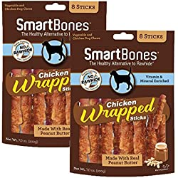 SmartBones Large Chicken Wrapped Stick Dog Treats, 16-Count