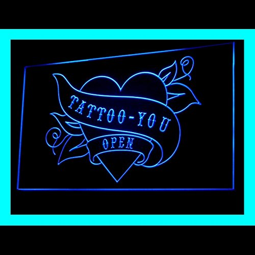 100049 Tattoo You Open Piercing Heart Forever Display LED Light Sign