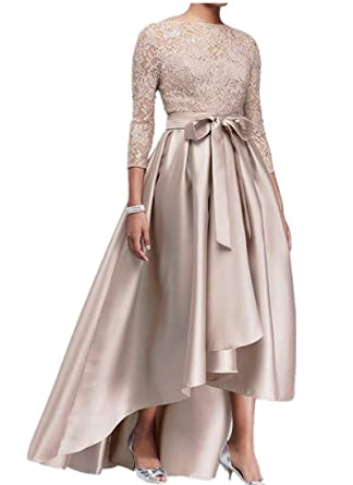 kxry Women\'s High Low Plus Size Mother of The Bride Dress Champagne ...
