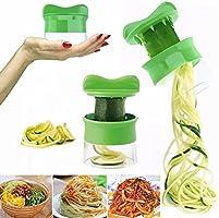 FabQuality - Cortador en espiral multifuncional,  cepillo para limpieza y recetario, verde
