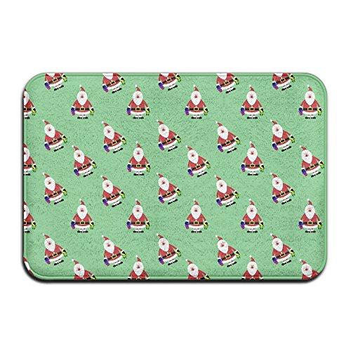 (Ksipop Pattern Doormats Santa Claus Clipart Entrance Mat Non-slip Indoor Outdoor Floor Door Rug Bathroom Mats For Home Decor)