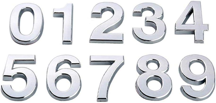 N/úmero 0 Negro Vac/ío 1PC 5cm N/úmero de adhesivos autoadhesivos N/úmero de puerta del apartamento 0 a 9 d/ígitos Casa Hotel Oficina Gabinete de la puerta N/úmero de buz/ón N/úmero de puerta