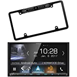 Kenwood DDX9704S 2-DIN In-Dash DVD/CD/AM/FM Car Stereo Receiver with Enrock EABC256B Car License Plate Frame Rear View Backup Camera