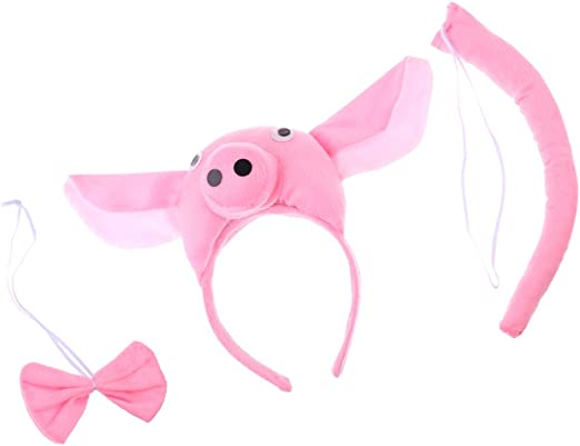 fenteer Niños Animal Cerdo Piggy Disfraz Kit Diadema mosca cola ...