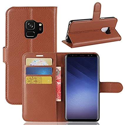Excelsior Premium Leather Wallet Flip Cover Case for Samsung Galaxy S9 Plus  Brown  Mobile Phone Cases   Covers