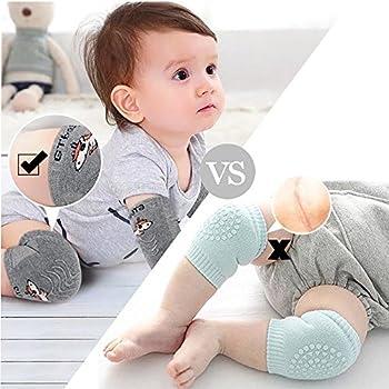 Baby Crawling Anti-Slip Knee,Unisex Baby Toddlers Kneepads,Adjustable Knee Elbow Pads Crawling,Summer knee environmental dispensing baby kneepads leg warmers 2 Pairs