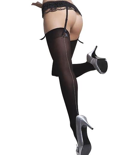 fe8e2c8d6adb1 Amazon.com: Coquette 1775 Women's Opaque Thigh High Stockings - One Size -  Black: Clothing