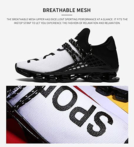 9a82fe9ef9951 JIYE Men's Running Sports Shoes Free Transform Flyknit Fashion Casual  Sneakers,White,11US-Men/12US-Women