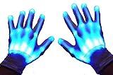 GlowCity Light Up LED Skeleton Hand Gloves White