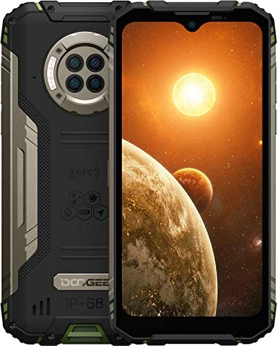 Rugged Smartphone Unlocked, DOOGEE S96 Pro 8GB + 128GB Smartphone with Night Vision Camera Helio G90 Phones 4G Dual SIM 48MP+20MP+16MP Camera Android 10 6350mAh Battery IP68/IP69K Waterproof GPS/NFC