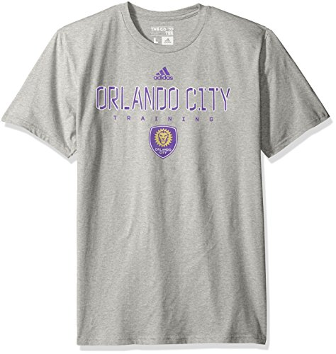 fan products of MLS Orlando City SC Men's Miracle Short Sleeve Go-To Tee, Large, Gray