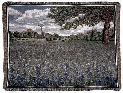 テキサスBluebonnets Tapestry Throw B01M67JUHL