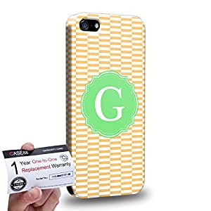 Case88 [Apple iPhone 5 / 5s] 3D impresa Carcasa/Funda dura para & Tarjeta de garantía - Art Typography Fashion Alphabet G Style