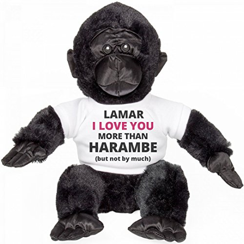 Lamar I Love You More Than Harambe: Small Gorilla Stuffed Animal