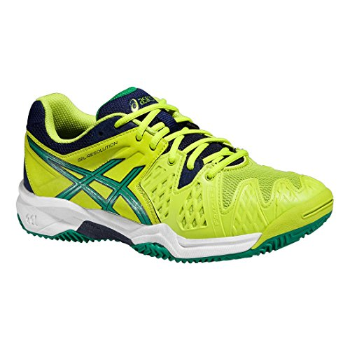 Asics Gel Resolution 6 Clay GS Lima/Verde/Azul Zapato tenis