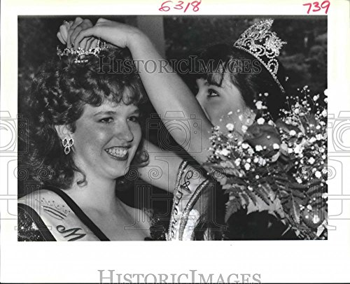 1988 Press Photo Belinda Clemons Crowned Miss Covington by Erika - Schwarz Erika