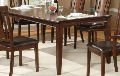 Alpine Rectangular Table (Alpine Furniture Bradbury Extension Dining Table - Cappuccino)