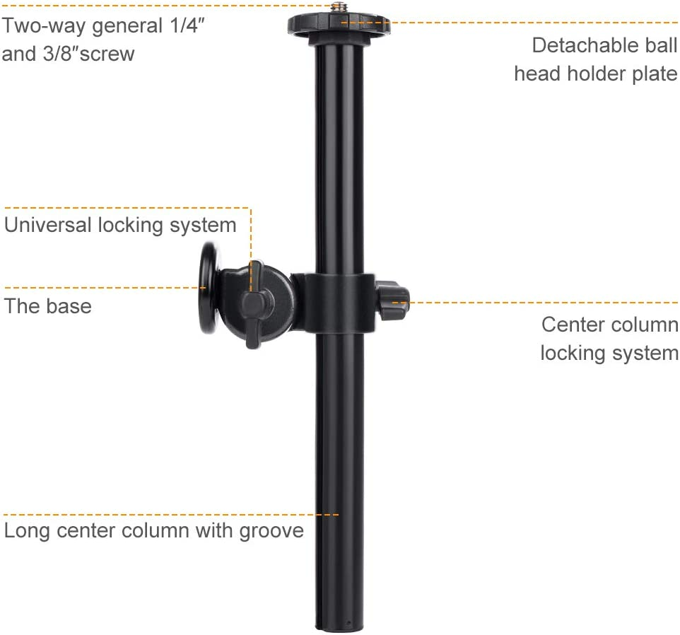 K&F Concept Magnesium Alloy Rotatable Multi-Angle Center Column with Locking System