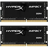 Kingston Technology HyperX Impact 16GB Kit 1600MHz DDR3L CL9 SODIMM 1.35V Laptop Memory, Black