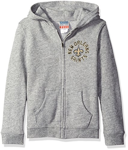 NFL New Orleans Saints Zip Fleece Jacket, Medium