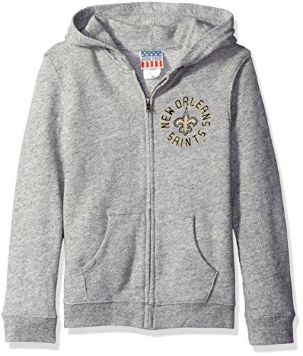 NFL New Orleans Saints Zip Fleece Jacket, Large