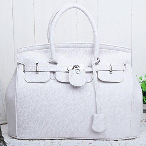 ESAILQ Blanco Bolsos y de Hombro Mujer para A Grandes de Niña Bandolera Piel Baratos Shoppers Blanco wtFZxcSZTq