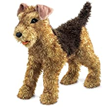 Folkmanis Airedale Terrier Dog Hand Puppet, Multi