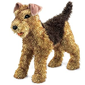 Folkmanis Airedale Terrier Hand Puppet 48