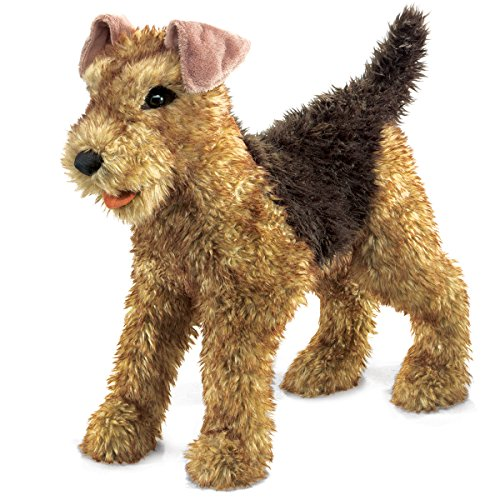 Folkmanis Airedale Terrier Hand Puppet by Folkmanis