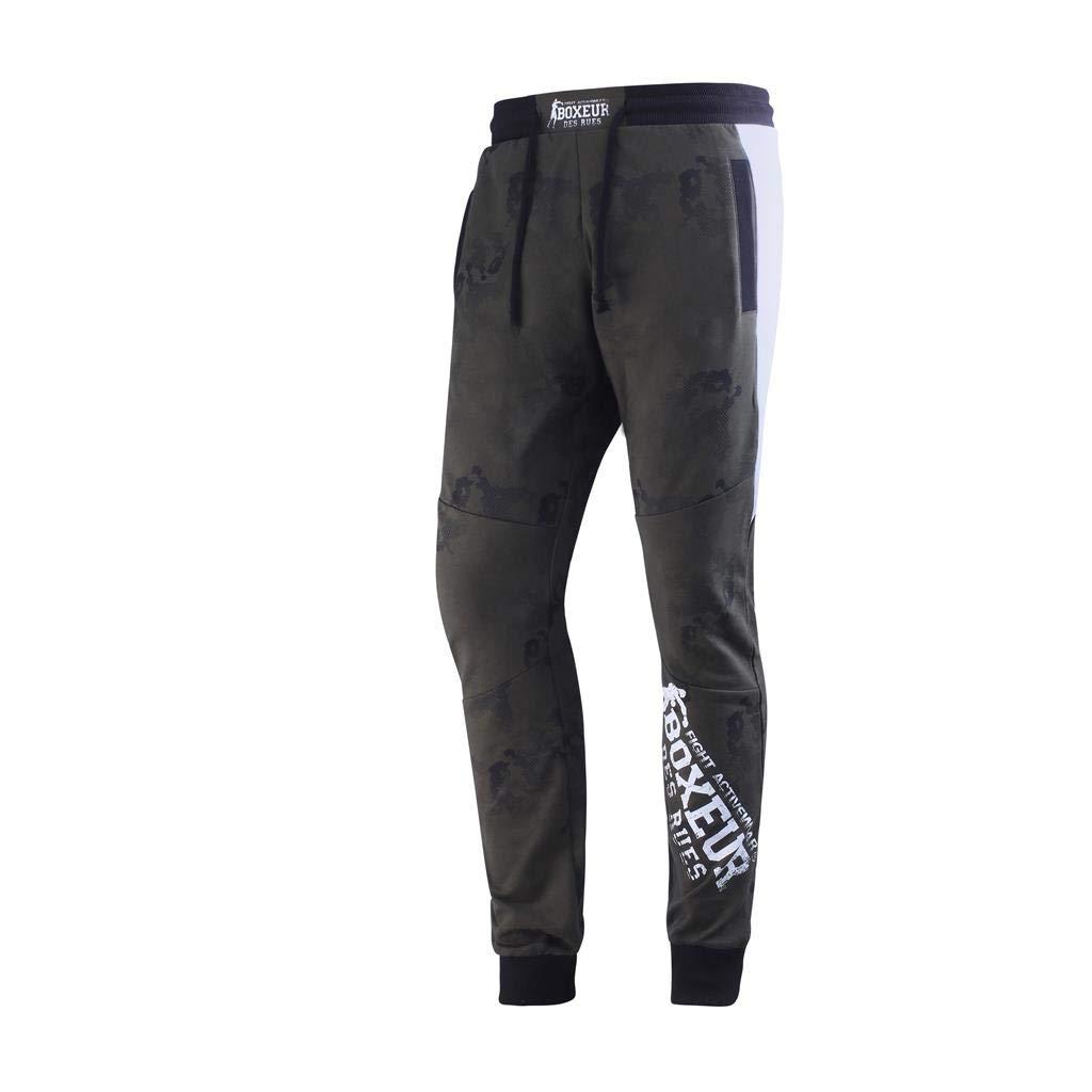 BOXEUR DES RUES Bxt-1788 Pantalones de Sudadera con elástico ...