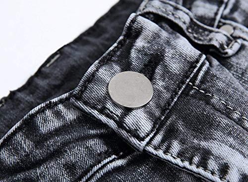 Morbidi Pantaloni Fashion Comodi Especial Da Uomo Slim Cotton Estilo Vintage Grau Ssig Fit Jeans Dritti c7vPqXxwX8