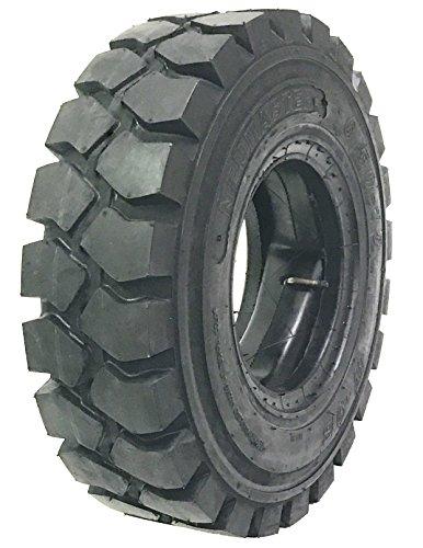 One New ZEEMAX HD 6.50-10 /10TT Forklift Tire w/ Tube & Flap & Rim Guard by NEUMASTER