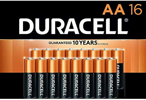 Duracell - CopperTop AA Alkaline Batteries - lengthy lasting, all-purpose Double A battery for family and trade - 16 Count