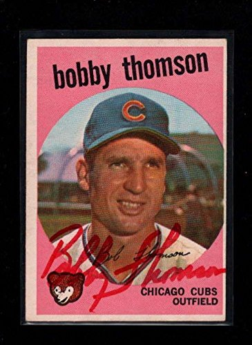 1959 Topps #429 Bobby Thomson Authentic On Card Autograph Signature Au1434 - Baseball Slabbed Autographed Cards (Thomson Signature Baseball)