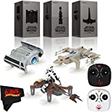 PROPEL Star Wars TIE Advanced X1 Quadcopter + T-65 X-Wing Starfighter Quadcopter + TIE Advanced X1 Quadcopter Drone 3-Pack