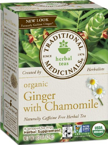 Traditional Medicinals, Organic Ginger with Chamomile, 16 co